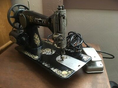 RARE Singer Vintage 1913 G Series Sewing Machine + Hardcase & Pedal AUTHENTIC