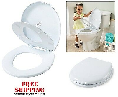 Adult Toilet Child Training Seat Built-in Potty Cover Baby Toddler Kid Trainer