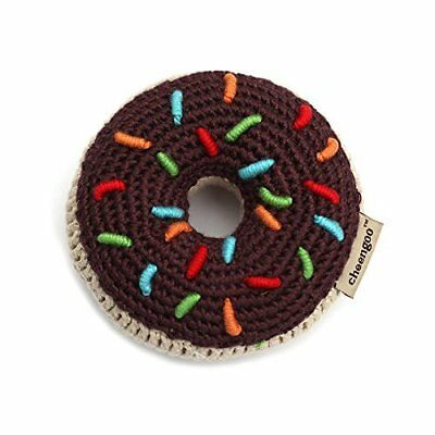 Cheengoo Organic Bamboo Crocheted Chocolate Donut Rattle