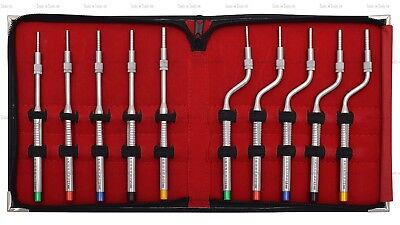 Sinus Lift Osteotomes Kit Straight Off Set Concave Dental Implant Instruments CE