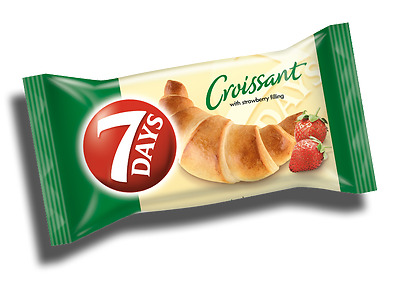 7 Day's Croissant / crossant  with strawberry Filling 60g (Pack of 6 / 10 / 20)
