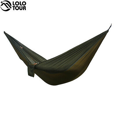 2 People Portable Parachute Hammock Camping Survival Garden Flyknit Hunting Leis