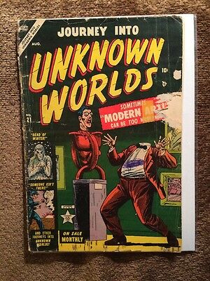 Journey Into Unknown Worlds #21 Atlas Comics 1953 Decapitation Cover