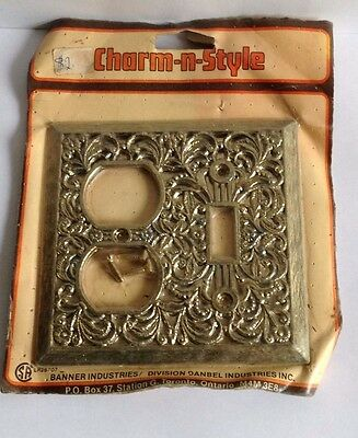 Vintage Charm-n-Style Metal Antique Lace Light Switch and Outlet Plate Cover