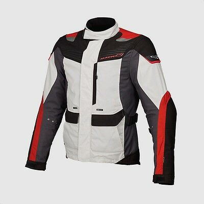 Macna Mentor Grey Black Textile Waterproof Motorcycle Jacket New RRP £149.99!!