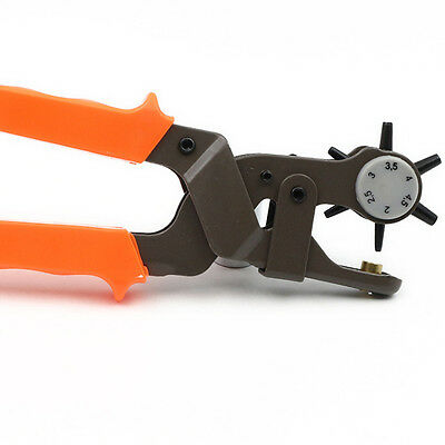 """Pliers 6 Size 9"""" Heavy Duty Leather Hole Punch Hand Pliers Belt Holes Punches"""