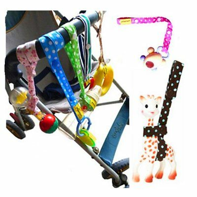 Xbes Adjustable Baby Bottle Clip Infant Toys Strap Belt Holders for Stroller of