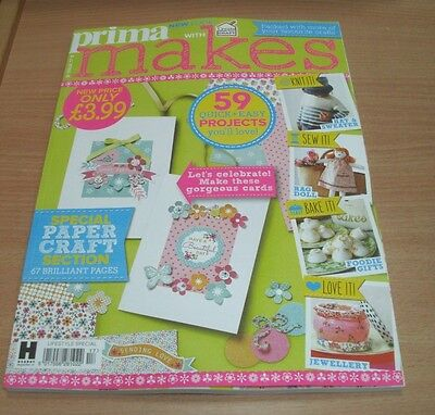 Prima Makes magazine Special #17 MAY 2017 Knit Bake Sew Papercrafts & more