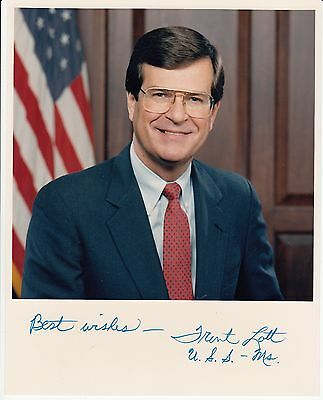 Trent Lott PS signature autograph Mississippi Rep and Senator Watergate