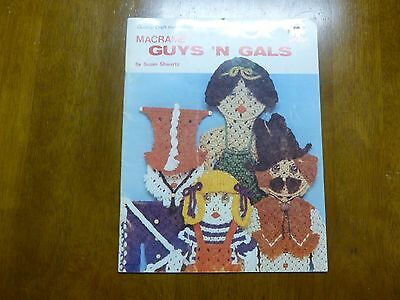 *VTG*Macrame Guys 'n Gals No 2 By Susan Shwartz (1978)*