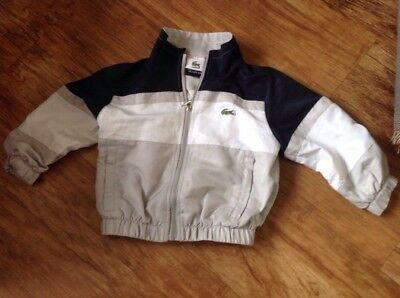 Boys Lacoste Tracksuit Top / Jacket Age 18 Months