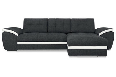nova via bigsofa biarritz mit led grau stoff sofa couch eur 699 00 picclick de. Black Bedroom Furniture Sets. Home Design Ideas