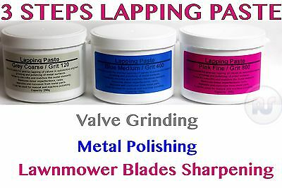 3 Steps VALVE GRINDING LAPPING Compound Paste Coarse Medium Fine 750g