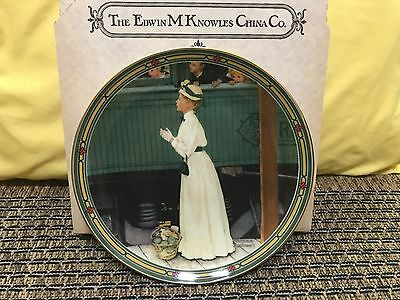 "Knowles Norman Rockwell 1986 Collector Plate ""A Mother's Welcome"" Train Mother"