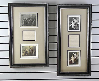 """(2) Etching on Silk - """"La Question"""" & """"Diana"""" - Framed - No Reserve"""