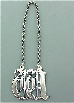A Victorian Solid Silver Decanter Label W Rawlings & Summers 1860