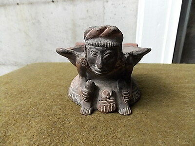 Antique,peru,amazon,incense Burner Artifact,excellent Condition