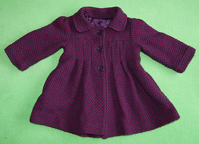 Purple violet jacket coat for girl 9-12 months 74-80cm