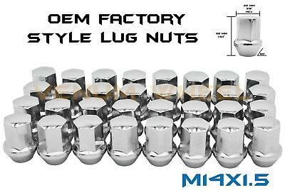 20Pc M14X1.5 Oem/factory Style Chrome Lug Nuts Fits Chevy/jeep/chrysler/ram