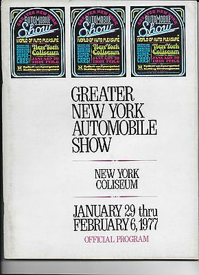 1977 Greater New York Automobile Show Official Program