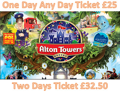 Alton Towers 53% off Discount One Day Ticket £25 or £32.50 for 2 Days
