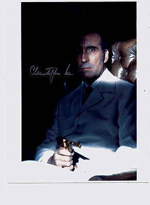 Christopher Lee James Bond Autograph Signed 007