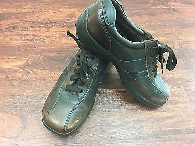 SKECHERS Versatile Relaxed Fit Lace Up Brown Leather Casual Shoe Men's Size 9
