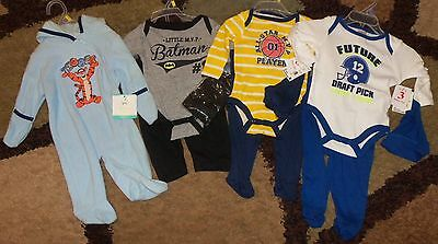 Lot of Boys Clothes size 0-3 Months Disney Baby Swiggles Batman NWT Fall/Winter