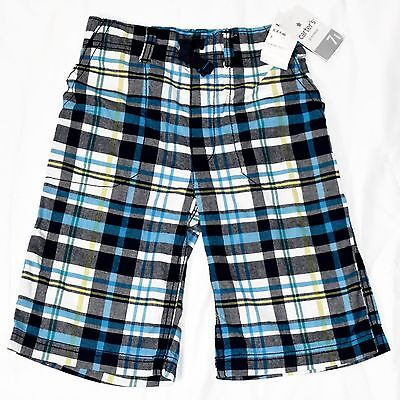 CARTER'S NEW Boy's Shorts Size 7 Black Navy White Green Yellow Arctic Blue Plaid