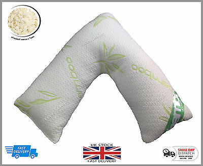 *Special Offer* Luxury V Shape Bamboo Memory Foam Pillow + Free Pillow Case