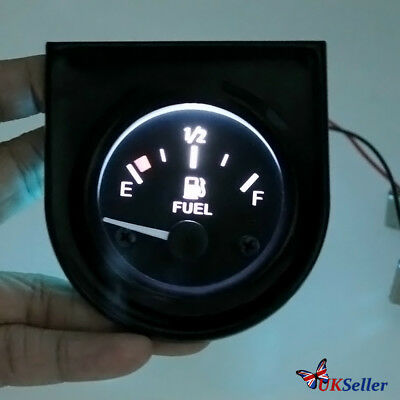 2'' 52mm Universal Car Fuel Level Meter Gauge With Fuel Sensor E-1/2-F Pointer