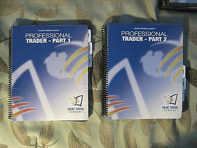 Online Trading Academy Professional Trader Parts 1 & 2 seven-day class workbooks