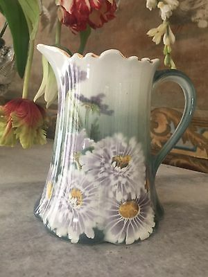 Antique K&g Luneville France, French Pitcher, Great For Florals