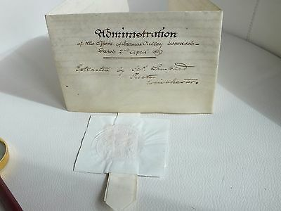 1813 Bishop Winchester Brownlow Vellum Document With Seal CULLEY FAMILY Crondall