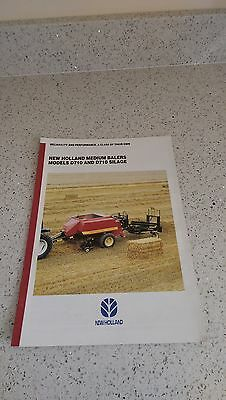 Ford New Holland D710 D710 silage Balers brochure 1995