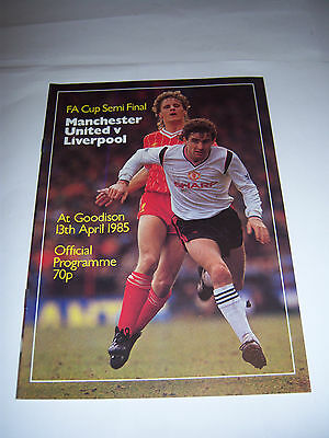 1985 FA CUP SEMI-FINAL - LIVERPOOL v. MANCHESTER UNITED - FOOTBALL PROGRAMME