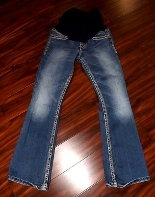 A Pea in the Pod Womens Boutique Maternity Jeans Silver Brand 28 x 32