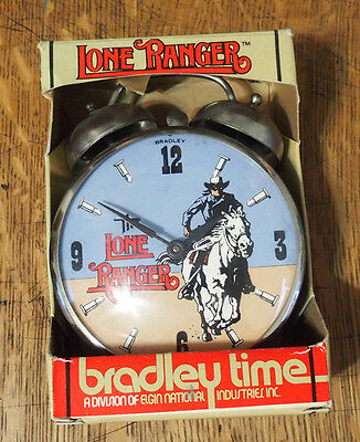 Vintage wind-up Lone Ranger Alarm Clock in the Original Box