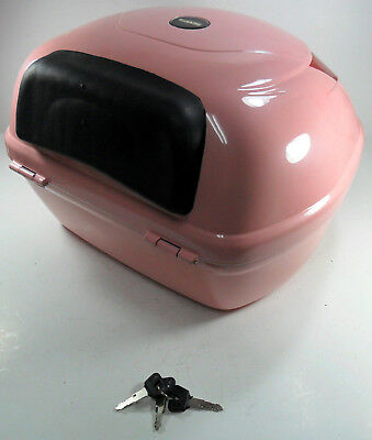 Pink Hard Case, Luggage Box, Top Box for Scooter / Motorcycle, 154842