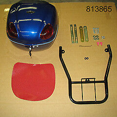ETON Matrix PN2H 50cc & PN2I 150cc OEM Blue Luggage Box w/Mounting Rack, 813865