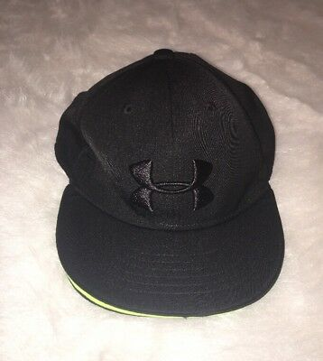 Boys Youth Under Armour Black Adjustable Baseball Cap Hat One Size EXCELLENT