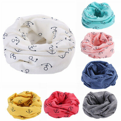 Toddler Kids Cotton Warmer Neck Round Scarf Wrap Baby Boy Girl Cute Scarf Snood
