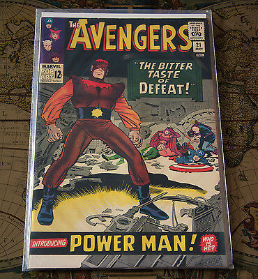 The Avengers #21 Power Man First Appearance Marvel 1965 Silver Age Comic VF