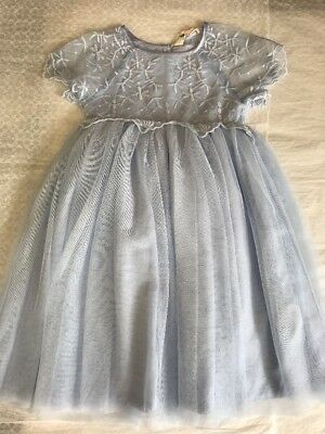 H&M Kids Girls size 7-8 Tutu Baby blue Lace Party Easter Dress