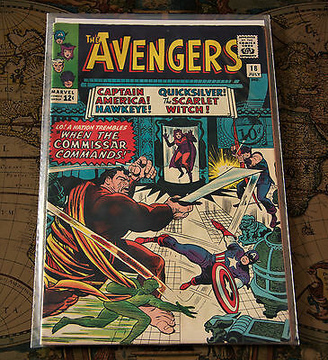 The Avengers #18 1965 Marvel Silver Age Comic Stan Lee Dick Ayers Jack Kirby VF+