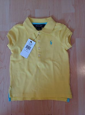 Ralph Lauren Girl's Yellow Polo Shirt For 2 Years BNWT