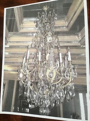 Antique Crystal Chandelier 19th Century VG-EX ITSO Baccarat