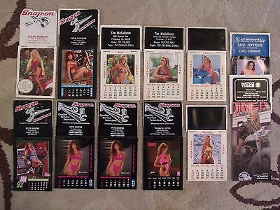 Snap On Mini Calendars Girls/Tools 12 Total ( 1990's )