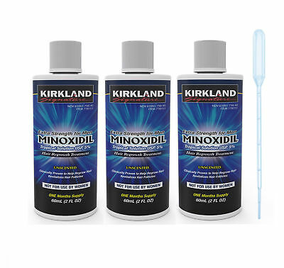 3 Month Kirkland Minoxidil Solution 5% Hair Loss Treatment* Worldwide Delivery*