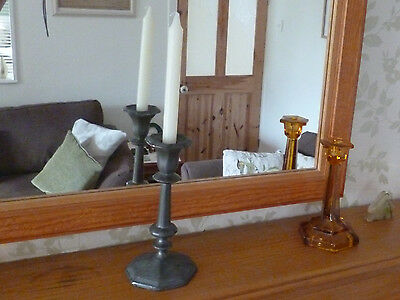 Rare Early 18th Century Georgian Pewter Candlestick